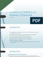 3 FARMACOCINÉTICA  II - FARMACODINAMIA