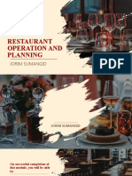 RESTAURANT OPERATION AND PLANNING