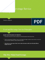 Food and Beverage Service Principles