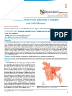 An Extensive Review of Health and Economy of Bangladesh Amid Covid-19 Pandemic