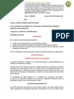 GUIA DE APRENDIZAJE - ELEMENTOS DE LA ORALIDAD GRADO 9 I PERIODO
