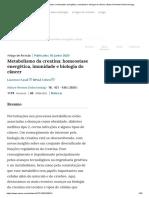 Metabolismo da creatina_ homeostase energética, imunidade e biologia do câncer _ Nature Reviews Endocrinology