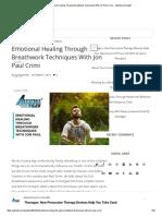 Emotional Healing Through Breathwork Techniques With Jon Paul Crimi - adventuresinhealth