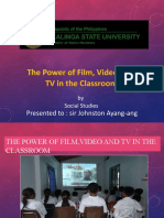 Lesson 13-THE POWER OD TV VIDEO IN THE CLASSROOM