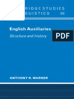 (Cambridge Studies in Linguistics 66) Anthony R. Warner-English Auxiliaries_ Structure and History-Cambridge University Press (2009).pdf