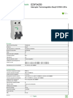 Dispositivos de protección Easy9 MCB RCCB RCBO SW SPD_EZ9F34250
