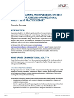 K06738_Strategic Planning and Implementation Best Practices for Achieving Organizational Agility Executive Summary