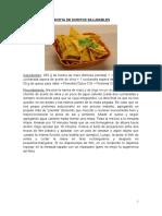 RECETA DE DORITOS SALUDABLES