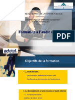 Formation à l'Audit Interne, TGR