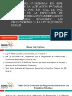 DIAPOSITIVAS SUNARP- CUESTIONARA LA PROTOCOLIZACION NTARIAL