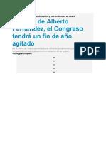 9-11-Al ritmo de Alberto Fernández el Congreso tendrá un fin de año agitado