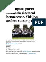 19-03-19-SIN TIERRA E INTENDENTES-Preocupada por el escenario electoral bonaerense Vidal ya acelera su campaña