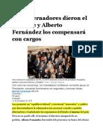 12-12-Los gobernadores dieron el presente y Alberto Fernández los compensará con cargos