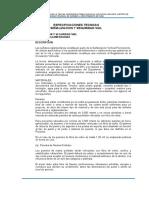 1.10.1.3 Especificaciones técnicas - Señalizaciones y seguridad vial