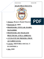 TRABAJO PRACTICO Nº3 Historia Social y Economica
