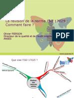 révision de la norme ISO 17025