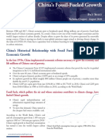 Fact Sheet - China's Fossil-Fueled Growth