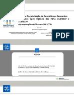 Apresentação - WE 01-20 - Alterações após vigência das RDCs 312-2019 e 313-2019