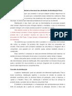 17-08 - Visão geral sobre a atividade de distribuição física