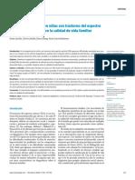 Conducta adaptativa en niños con trastorno del espectro autista y su efecto sobre la calidad de vida familiar