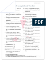 101 Numbers Practice Questions Upto March