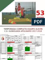 53 sesiones de un equipo Alevín