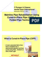 Mainline Pipe Rehabilitation Using CIPP & Folded Pipe Technology