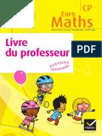 Livre du professeur - Euromaths - Cp