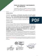 ACTA DE COMPROMISO DE OPERACIÓN Y MANTENIMIENTO DEL PROYECTO