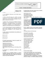Língua Portuguesa - Atividade 01 - 2º ano