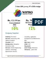 Wipro Technologies Q3 2011 Analysis