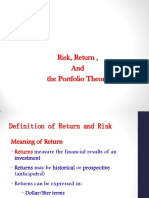 Chapter 04 Risk, Return, and the Portfolio Theory