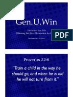 Gen.U.Win (Winning the Next Generation for Christ)