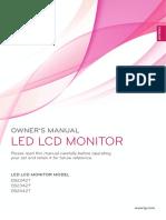 LG Flatron EB2442 Monitor User Manual