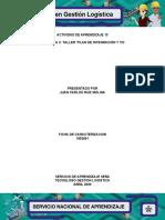 """Evidencia 3 """"Plan de integración y TIC"""""""