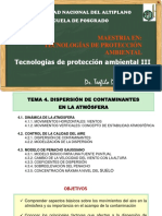 Capítulo 04 Dispersión de contaminantes en la atmosfera PPT