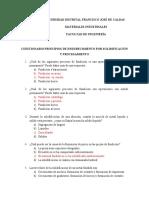 SOLUCION CUESTIONARIO PRINCIPIOS DE ENDURECIMIENTO POR SOLIDIFICACIÓN Y PROCESAMIENTO