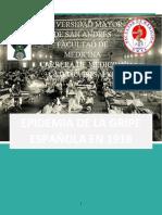 EPIDEMIA DE LA GRIPE ESPAÑOLA EN 1918