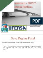 Novo Regime Fiscal Emenda 95