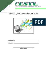 EDUCAÇÃO A DISTANCIA EAD - 14apostilas