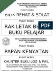 PUSAT AKSES - LABEL BILIK AND RAK1,mus225