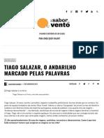 Tiago Salazar [Entrevista sobre Viagens]