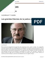 Les grandes théories de la justice sociale (2 2) – Des hauts et débats