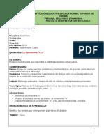 PLAN DE CLASE DE 1° CASTELLANO