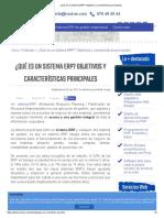 ¿Qué es un sistema ERP_ Objetivos y características principales