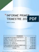 INFOME PRIMER TRISMESTRE 2020