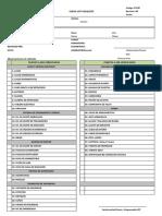 Check list volquete