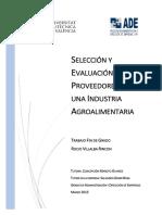 VILLALBA - Selección y evaluación de proveedores en una industria agroalimentaria