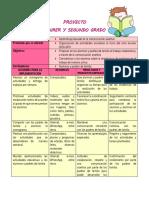 PROYECTO DE PRIMER Y SEGUNDO GRADO