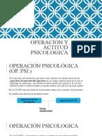 Operación y Actitud Psicologica POINT